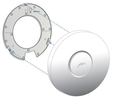 Соединение UniFi с крепежной пластиной