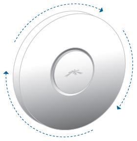 Фиксация UniFi с крепежной пластиной