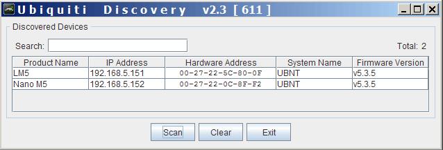 Поиск IP адреса Ubiquiti